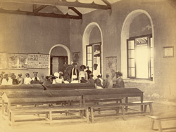 Classroom, with lesson in progress, in the Anglo-Vernacular School, Karachi 4653